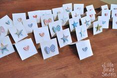 Genähte Grußkarte , Basteln mit Papier