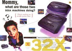 It was a simpler time!  A print ad for the Sega 32X.  #sega #sega32x #32x #retrogaming