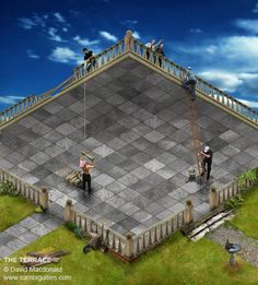 all on deck, love MC Escher type illusion! Mc Escher, Escher Kunst, Escher Art, Optical Illusion Photos, Optical Illusions Pictures, Illusion Pictures, Illusion Kunst, Illusion Art, Illusion Paintings