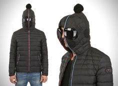 Built In Snow Goggles Hooded Jacket