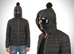 Excelente para el frío solo que la gente se quedará de que pedo...  Built In Snow Goggles Hooded Jacket