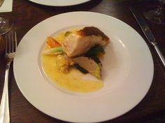 Le Baratin - bistrot gastronomique - 3, rue Jouy Rouve - Paris 20 Barbue pochée et petits légumes croquants
