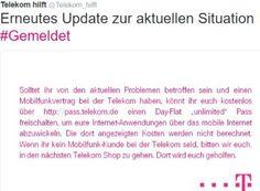 """Telekom-Ausfall: Gratis-Datenflat ohne Limit für betroffene Kunden https://www.discountfan.de/artikel/technik_und_haushalt/telekom-ausfall-gratis-datenflat-ohne-limit-fuer-betroffene-kunden.php Den dritten Tag in Folge gibt es bei hunderttausenden von Telekom-Kunden technische Probleme. Nun zeigt sich der Magenta-Riese entgegenkommend und bietet seinen direkten Kunden den Tagespass """"Day-Flat unlimited"""" im Wert von 4,95 Euro komplett gratis an. Telekom-Ausfall:."""