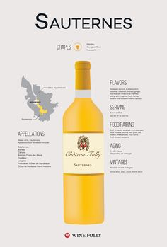 Sauternes Wine Illustration Infographic by Wine Folly #Wine #Wineeducation