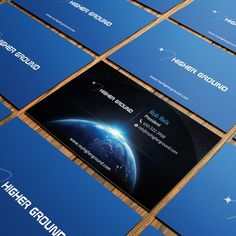 Business Cards for Consumer Electronics Satellite Company by Felix SH