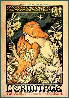 Art Print Paris France Art Deco Paul Berthon Poster Print 8 x 10