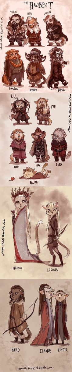 The Hobbit... cats! I laughed so much when I first saw this... it's just so cute and awesome! :D