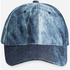 Ashley Stewart Washed Denim Baseball Cap ($17) ❤ liked on Polyvore featuring accessories, hats, baseball cap hats, denim baseball hat, baseball cap, strap back hats and velcro hat