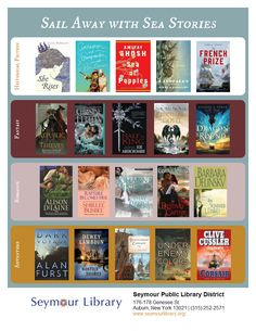 Ahoy! Check out a wide range of sea stories and nautical adventures from such book genres as historical fiction, romance, and fantasy.
