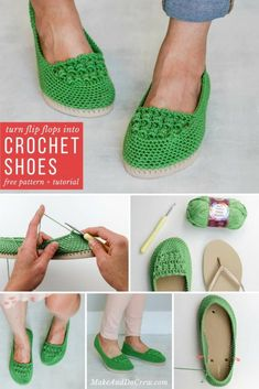 Learn how to crochet shoes with this easy free crochet pattern and tutorial. Because of their flip flop soles, these DIY kicks work well equally well as house slippers or outdoor shoes. via 22 Crochet Slippers / Boot / Shoes / Flip Flops…Crochet . Flip Flops Diy, Crochet Flip Flops, Crochet Crafts, Free Crochet, Crochet Baby, Single Crochet, Learn Crochet, Crochet Round, Easy Things To Crochet