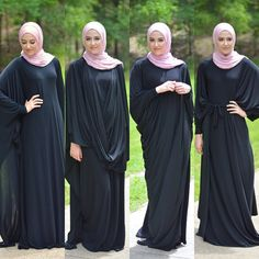 One Abaya in many styling looking - Fall stylish hijab street looks http://www.justtrendygirls.com/fall-stylish-hijab-street-looks/