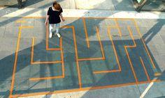 Resultado de imagen para juegos en el piso pintados