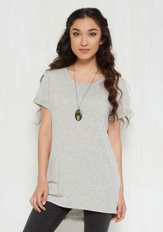 Simplicity on a Saturday Tunic in Grey, @ModCloth