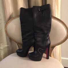 Louboutin Boots Gorgeous boots! Gently worn.  Happy to take more photos of interested ☺️ Christian Louboutin Shoes