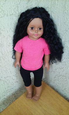 "AFRICAN AMERICAN  BLACK HAIR BROWN EYES W/OUTFIT GIRL DOLL MADAME ALEXANDER 18"" #Dolls"