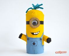 How to make a Toilet Roll Minion........ it's fun and it's easy :)  http://mollymoo.ie/toilet-roll-craft-make-a-minion/