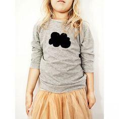 Tee-shirt Cloud gris chiné