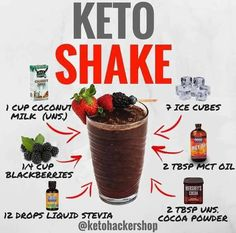 👈SWIPE 💡👨‍🍳Looking for easy Keto meal prep ideas? Check out these Keto recipes RP —————— 📝Keto Recipes include:… Keto Shakes, Protein Shakes, Ketogenic Recipes, Diet Recipes, Keto Foods, Recipies, Cetogenic Diet, Comida Keto, Low Carb Drinks