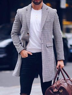 Modern Mens Fashion, Double Breasted Coat, Single Breasted, Winter Outfits Men, Mens Fall, Pattern Fashion, Types Of Sleeves, Marie, Menswear