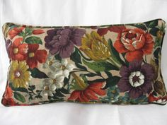 Coverpoint Vintage Floral Sanderson Oblong Bolster Cushions