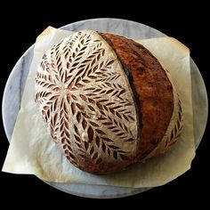 Used a basic hydration loaf with wheat, spelt and rye here but added a couple tablespoons of tahini and pine nuts. Was really excited… Sourdough Recipes, Sourdough Bread, Bread Recipes, Savoury Biscuits, Bread Shop, Bread Art, Our Daily Bread, Bread And Pastries, Fresh Bread
