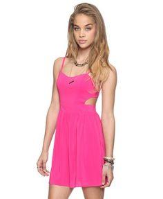 Forever 21 Cutout Sweet-heart Dress