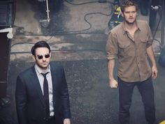 Matt and Danny I can't wait to watch these two together The Defenders  behind the scenes .  #charliecox #finnjones #krystenritter #mikecolter #daredevil #ironfist #jessicajones #lukecage #thedefenders #photoshoot #Netflix