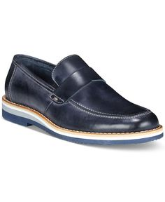 Dress the part of the stylish jetsetter in these Italian leather loafers from Kenneth Cole Reaction. | Leather upper; rubber sole | Made in Italy | Apron toe | Slip-on style | Leather lining for comfo