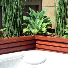 Modern wood planter
