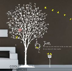 Spring Tree -71 Inches tall -Vinyl Wall Decal Sticker Art, Mural,Wall Hanging