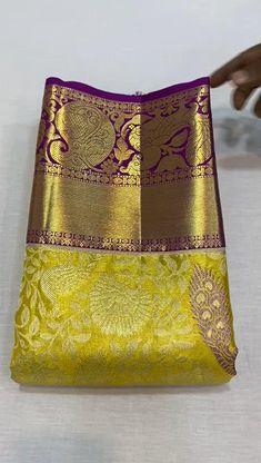 Cotton Saree Blouse Designs, New Saree Designs, Saree Tassels Designs, Wedding Saree Blouse Designs, Pattu Sarees Wedding, Indian Bridal Sarees, Wedding Silk Saree, Kanjivaram Sarees Silk, Kanchipuram Saree