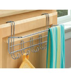 Over the Cabinet Towel Bar and Hooks ($6.99)