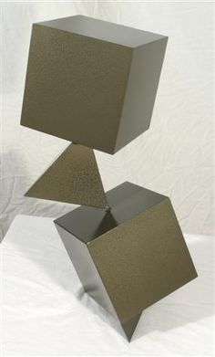 The different shapes create emphasis and unity throughout the balanced sculpture