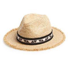 Maison Scotch Straw Hat (240 CNY) ❤ liked on Polyvore