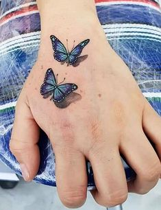 Tattoos have been one of the most popular forms of body modification. tattoos have recently gained a lot of attention from tattoo enthusiasts. As the name suggests, these tattoos are three-dimensional images. Realistic Butterfly Tattoo, Butterfly Hand Tattoo, Butterfly Tattoos For Women, Hand Tattoos For Women, Shoulder Tattoos For Women, Butterfly Tattoo Designs, Sleeve Tattoos For Women, Tattoo Sleeve Designs, Tattoo Designs For Women