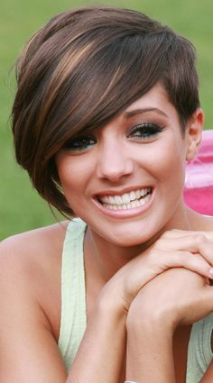 Frankie Sandfords Undercut Style Works Well With Her Rich Chocolate Hair Colour, 2010   Mobile @Heather Creswell tweedy!!