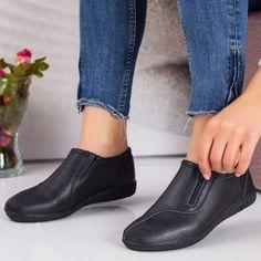 Pantofi Piele dama negri Tulima