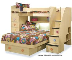 Twin over Full Space Saver with Desk and Stairs    Berg Space Saver Twin Full Loft Bunk Bed with desk and Staircase with built in drawers 22-815-XX 22-815     Alternative Views:          Our Price: $3,262.50