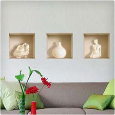 3D Effect Ceramic Figure Wall Decal