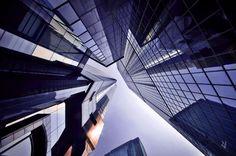 Vertical Horizons photos du ciel à partir du sol au milieu des buildings   Vertical Horizon photos du ciel par le sol hong kong 12