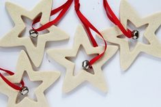 These Star Salt Dough Ornaments are so easy to make!
