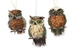 Pine Cone Owl Ornaments to Make   Share