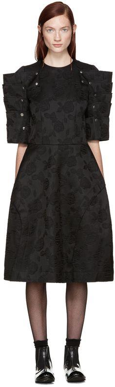 COMME DES GARÇONS Black Floral Jacquard Dress. #commedesgarçons #cloth #dress