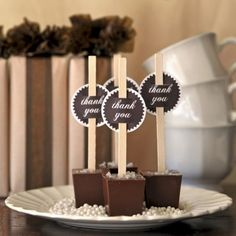 This is the most amazing idea! Hot chocolate on a stick! SALTED CARAMEL hot chocolate!!  Just swirl in steaming milk and try not to die from the anticipation! :-)