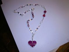 My more recent  work. Necklace in silver,agate and crystals.