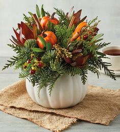 Order the Pumpkin Harvest Centerpiece from Harry & David. For more than 80 years, we've delivered expertly crafted delight. Pumkin Decoration, Decoration Christmas, Pumpkin Centerpieces, Floral Centerpieces, Thanksgiving Decorations, Fall Table Centerpieces, Fall Table Decorations, Pumpkin Vase, Decorating For Thanksgiving