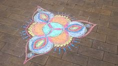Made a chalk mandala at work. A great way to calm down at work in a kindergarten