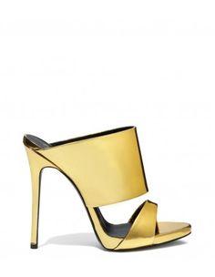 Giuseppe Zanotti Gold Metallic Mule