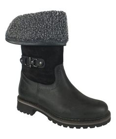 63f5d46f This Black & Dark Gray Hillory Waterproof Leather Boot is perfect!  #zulilyfinds
