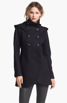 Soia & Kyo Hooded Double Breasted Coat available at #Nordstrom
